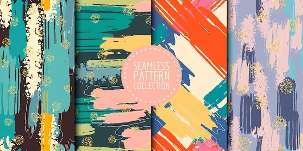 Colección de patrones sin fisuras de formas abstractas
