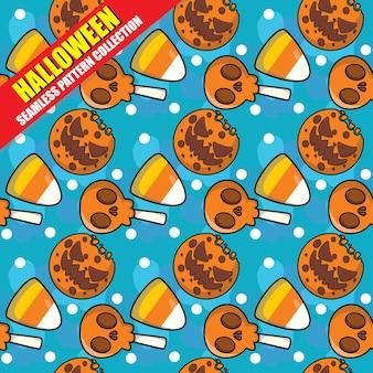 Colección de patrones sin fisuras de halloween