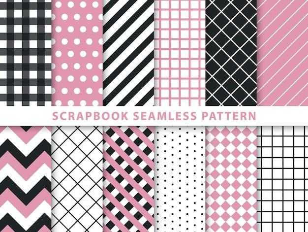 Colección de patrones sin fisuras del libro de recuerdos