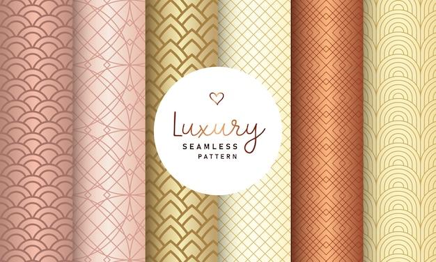 Colección de patrones sin fisuras de lujo.