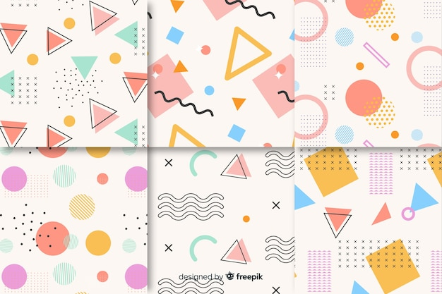 Colección de patrones sin fisuras de memphis