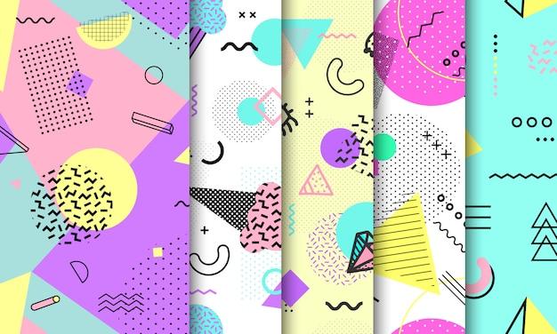 Colección de patrones sin fisuras de memphis.