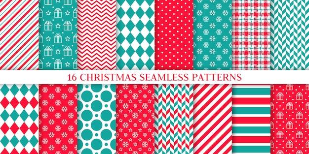 Colección de patrones sin fisuras de navidad