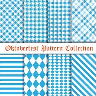Colección de patrones sin fisuras oktoberfest