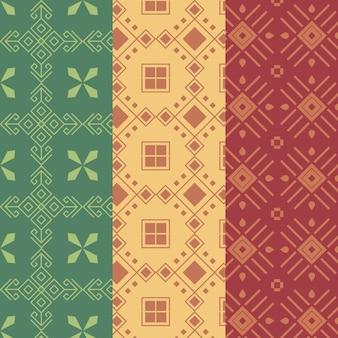 Colección de patrones sin fisuras de songket