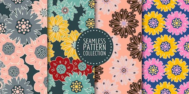 Colección de patrones florales sin costura