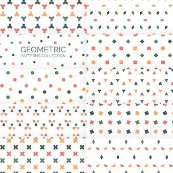 Colección de patrones de fondos geométricos abstractos