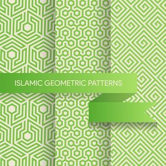Colección de patrones de fondos geométricos sin fisuras