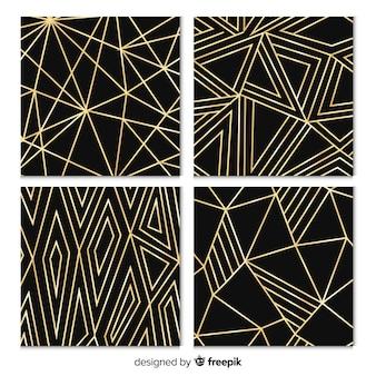 Colección de patrones con formas geométricas
