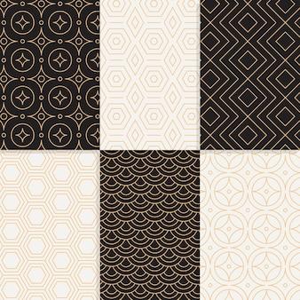 Colección de patrones geométricos de diseño minimalista