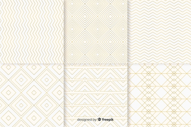 Colección de patrones geométricos de lujo brillante