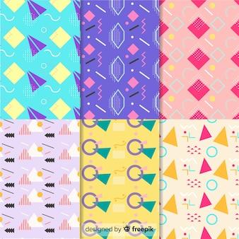 Colección de patrones geométricos y memphis