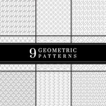 Colección de patrones geométricos mínimos.