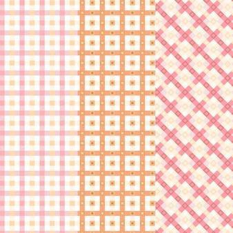 Colección de patrones de guinga pastel