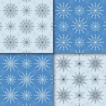 Colección de patrones islámicos geométricos azules