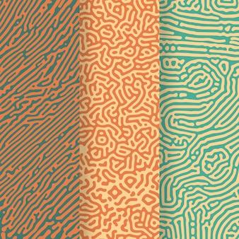 Colección de patrones de líneas redondeadas