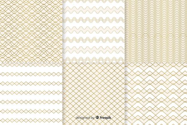 Colección de patrones de lujo geométricos brillantes