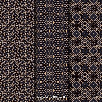 Colección de patrones de lujo de moda