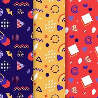 Colección de patrones de memphis