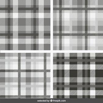 Colección de patrones monocromáticos tartán