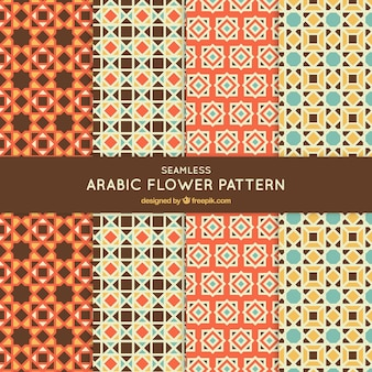 Colección de patrones de mosaicos en estilo árabe