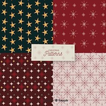 Colección de patrones de navidad flat
