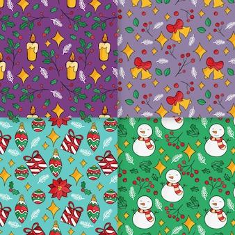 Colección de patrones navideños