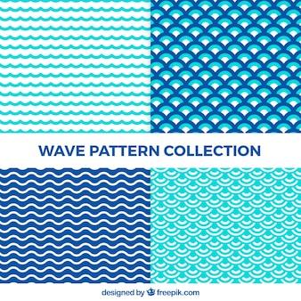 Colección de patrones de ondas abstractas