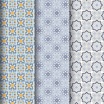 Colección de patrones ornamentales árabes