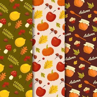 Colección de patrones de otoño