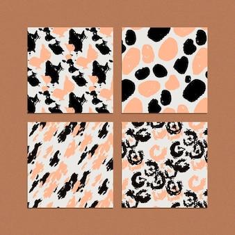 Colección de patrones de piel de animales modernos