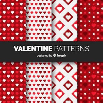 Colección patrones planos día de san valentín