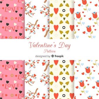 Colección patrones planos san valentín