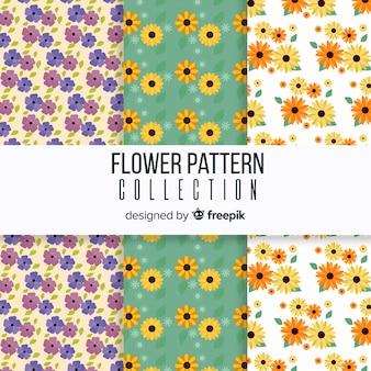 Colección patrones primavera florales
