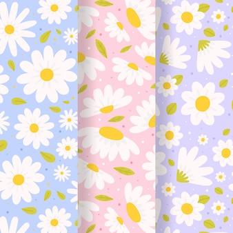 Colección de patrones de primavera vector gratuito