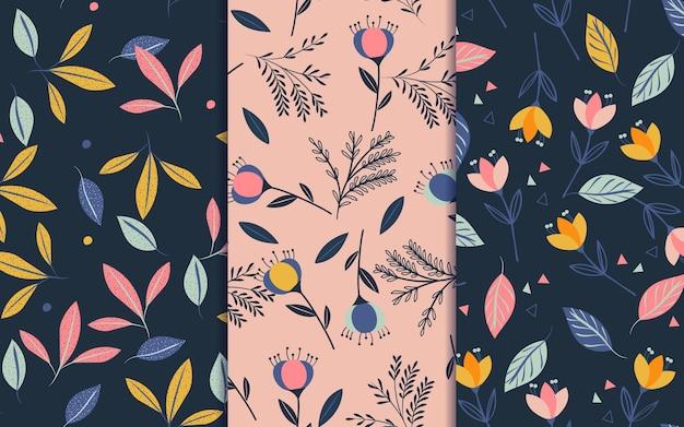 Colección de patrones de primavera