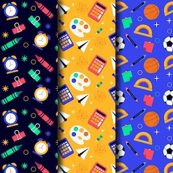 Colección de patrones de regreso a la escuela