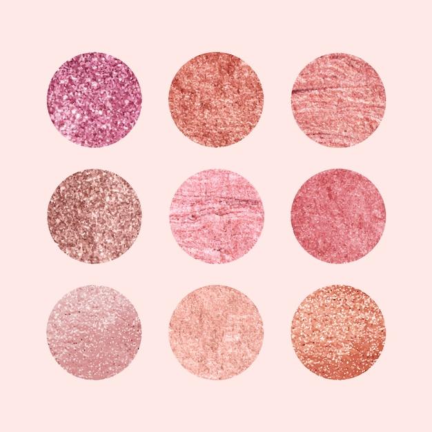 Colección de patrones rosa