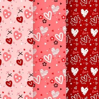 Colección de patrones de san valentín