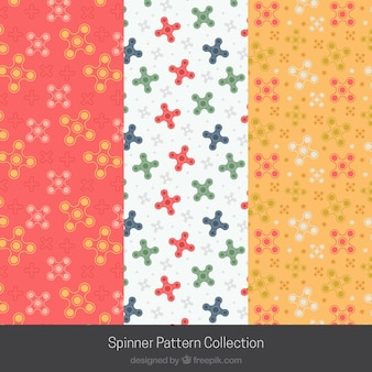 Colección de patrones de spinners multicolor