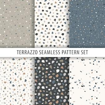 Colección de patrones de terrazo.