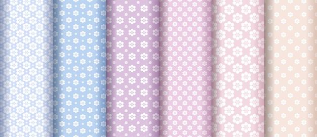 Colección de patrones de textura de flor abstracta