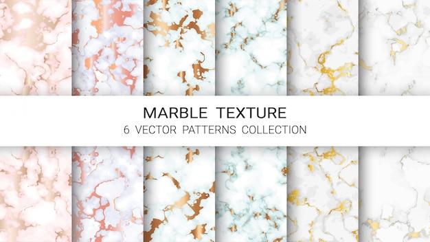 Colección de patrones de textura de mármol