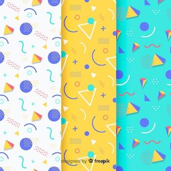 Colección de patrones de triángulos de memphis
