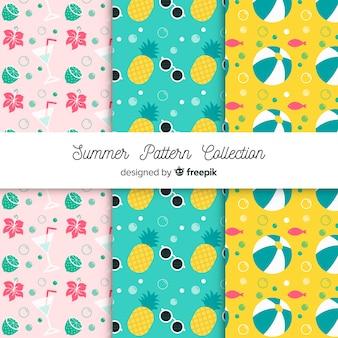 Colección de patrones de verano flats