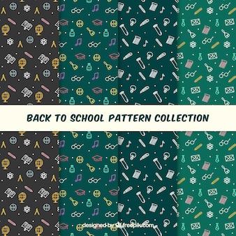 Colección de patrones de vuelta al cole