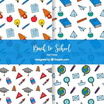 Colección de patrones de vuelta al colegio