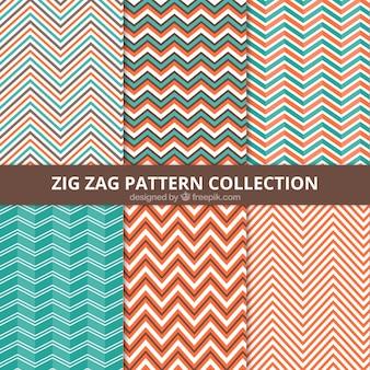 Colección de patrones en zigzag