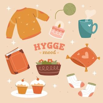Colección de pegatinas hygge
