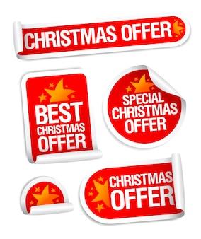 Colección de pegatinas de las mejores ofertas navideñas